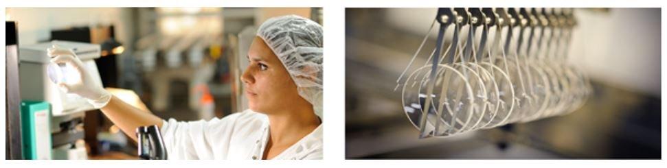 Photos usine production des verres à Bazainville